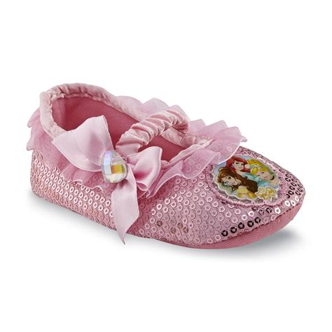 princess slippers for disney princess toddler s pink sequin slipper