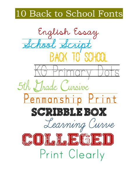 back to school lettering or 10 back to school free fonts my craftily ever after
