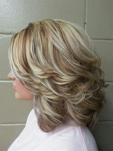 hairstyles with hi and low lights high and low lights medium with layers and curls women s
