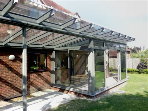 modern conservatory aluminium conservatories reverse lean to kitchen