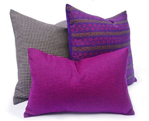Magenta Pillow by Magenta Houndstooth Pillows Vibrant Purple By Pillowthrowdecor