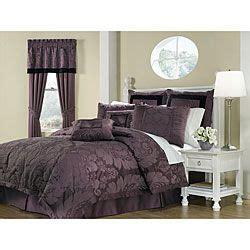 Purple Pattern Comforter by Lorenzo Purple 8 King Size Comforter Set Purple