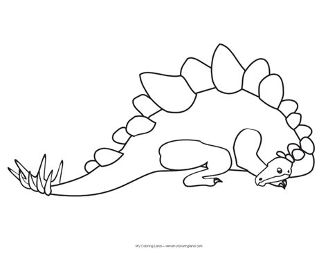 free coloring pages of cute dinosaur