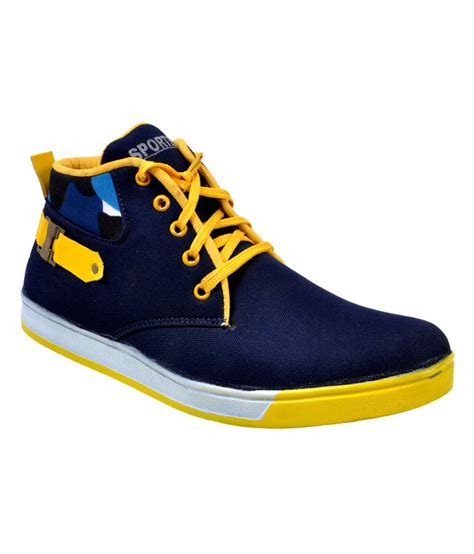versoba blue yellow canvas shoes price in india buy