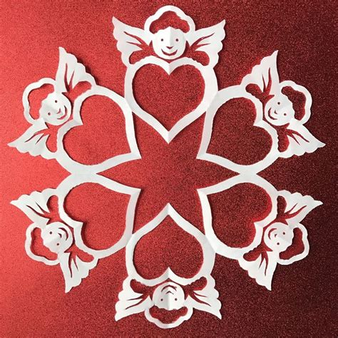 printable heart snowflakes 147 best paper snowflake patterns images on pinterest