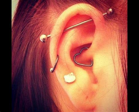 top ear bar 25 best ideas about middle cartilage piercing on