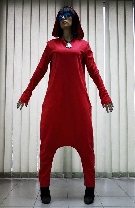 Handmade Plus Size Clothing - fashion hooded jumpsuit jumpsuit