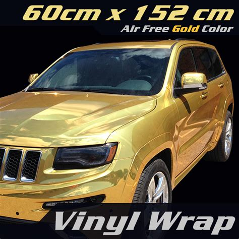 Car Sticker 24 by Free Shipping Chrome Gold Mirror Car Wrap Vinyl Vinyl