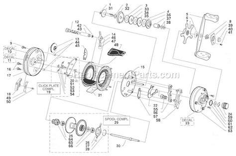 abu garcia parts diagrams abu garcia 5600 c4 parts list and diagram 07 00