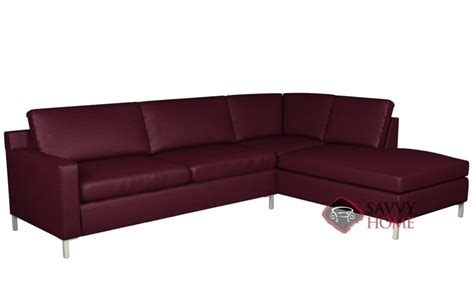 2 Leather Sectional With Chaise Soho Leather Chaise Sectional By Lazar Industries Is Fully