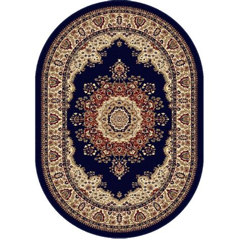 navy blue area rug 5x8 tayse rugs sensation navy blue 5 ft 3 in x 7 ft 3 in traditional oval area rug 4707 navy 5x8
