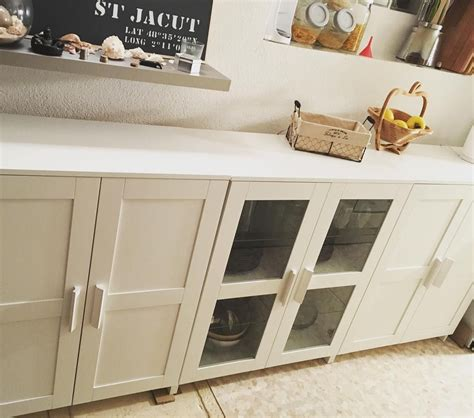 Ikea Top Cabinet by Ikea Brimnes Cabinets As A Console Or Buffet Add Wood Top
