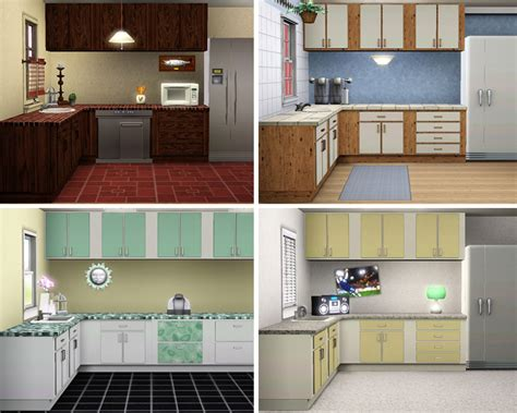 sims kitchen ideas mod the sims simple kitchen counters islands cabinets