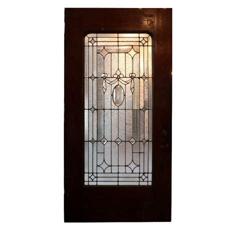 42 Exterior Door Antique 42 Exterior Door With Beveled And Jeweled Leaded Glass C 1905 Ned123 For