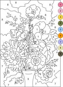 nicole s free coloring pages color by numbers flowers