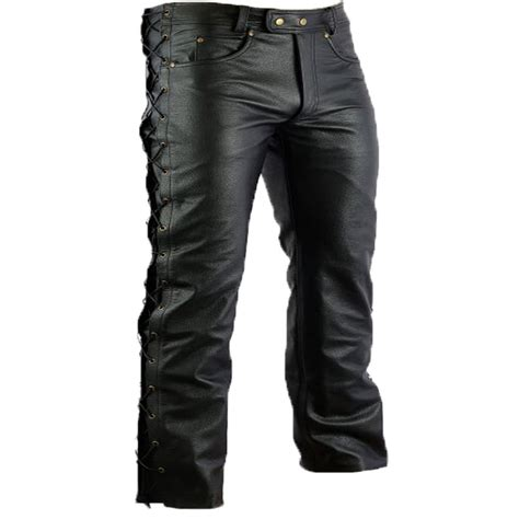 motorcycle trousers motorcycle trousers biker pants leather chopper bikerhose