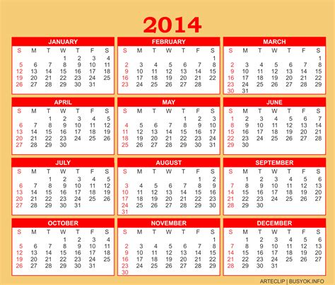 2014 calendar printable one page search results