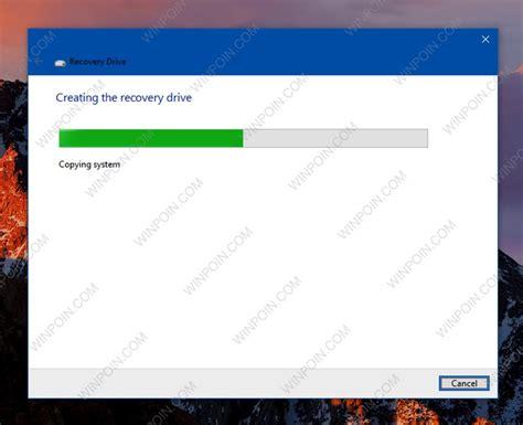 membuat dvd recovery windows 10 cara membuat recovery drive windows 10 di usb flashdisk