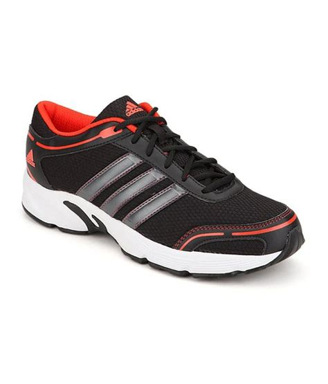 buy adidas black sport shoes for on snapdeal