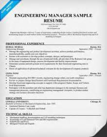 Engineering Resumes Exles by Engineering Manager Sle Resume Engineering Resume Exles Resume And