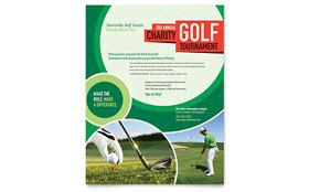 Golf Tournament Flyer Template Golf Journal Template
