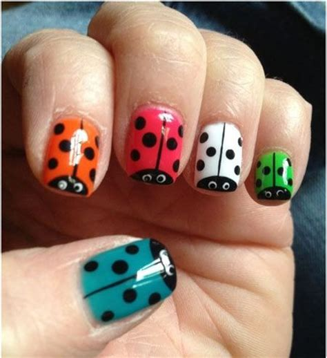 cute easy lady bug nail art youtube 25 best ideas about kid nail art on pinterest kid nails