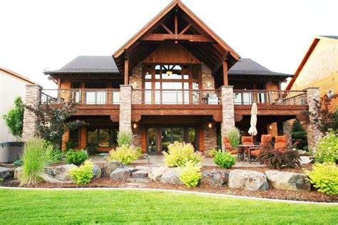 awesome mountain house plans with walkout basement new