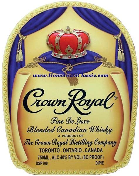Crown Royal Label Template Crown Royal Whiskey Bottle Bag Label Wood Pub Bar Sign For Sale