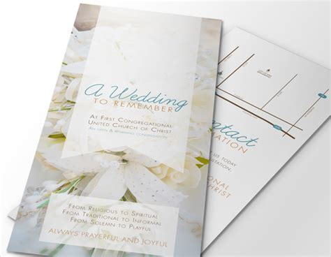 wedding brochures templates free wedding brochure template 23 free psd ai vector eps