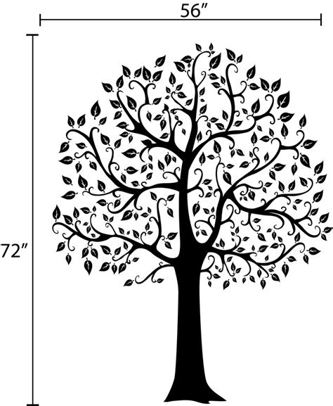 big tree wall sticker decals by digiflare 6 ft big tree wall decal deco