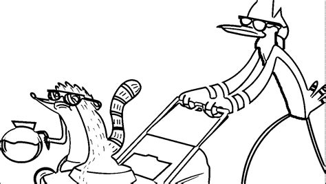 cartoon network coloring pages regular show coloring home