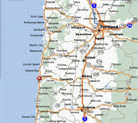 oregon beaches map afputra com