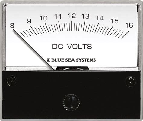 Voltmeter Analog dc analog voltmeter 8 to 16v dc blue sea systems