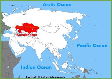 map world kazakhstan kazakhstan location on the asia map