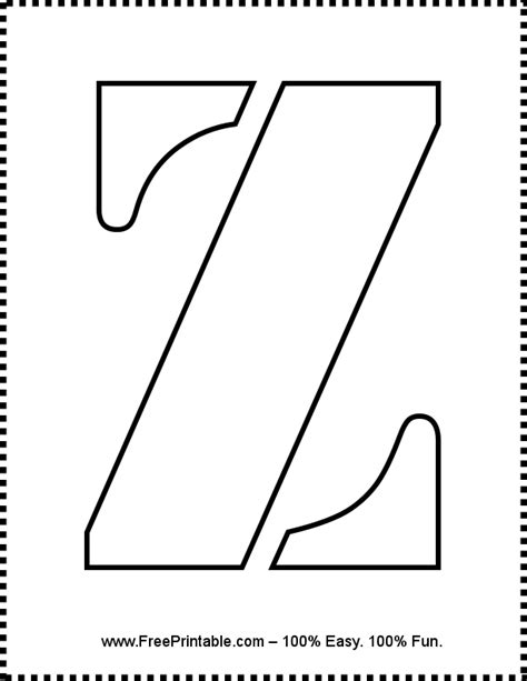 www printable customize your free printable letter z stencil