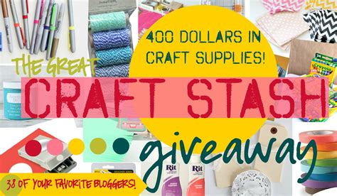Craft Giveaway - the great craft stash giveaway