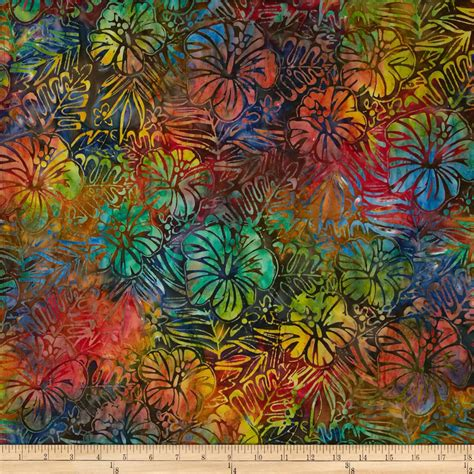 fabric design of indonesia kaufman artisan batiks totally tropical ferns flowers