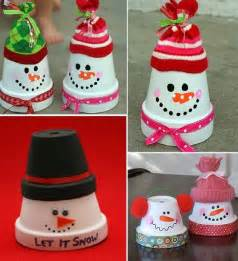 clay pot snowman ornaments video tutorial terracotta and