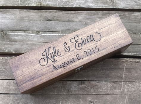 Wedding Box With Wine And Letters by Personalized Wine Box Wedding Wine Box Letter Box