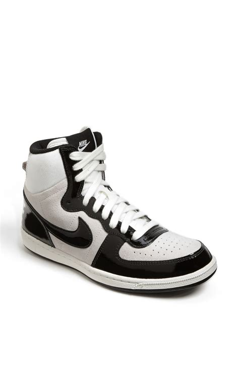 nike terminator lite high top sneaker in white white