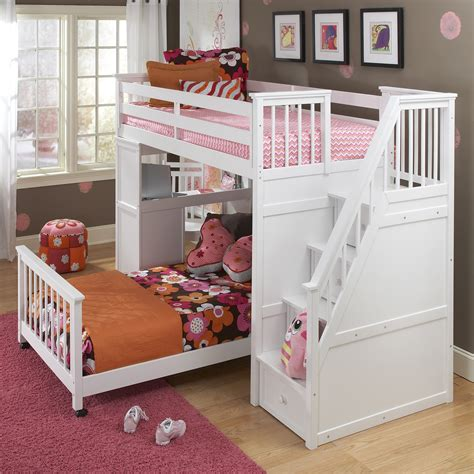 loft bed for toddler ne kids schoolhouse stairway loft bed white bunk beds loft beds at hayneedle