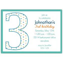 3rd birthday boy dots invitations paperstyle
