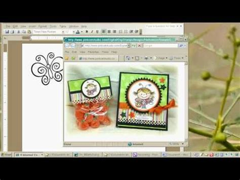 tutorial carding newbie printing digital sts from ms word excellent video for