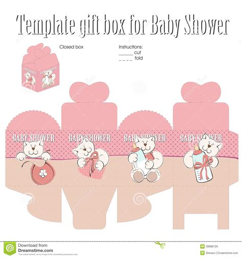 Baby Lucky Gift Set template for gift box stock vector image of birthday