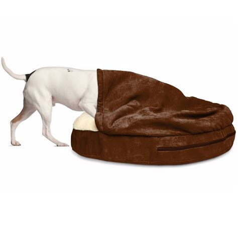 furhaven pet bed furhaven faux sheepskin snuggery orthopedic dog cave bed