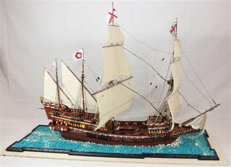 Model Dan Lu Aquarium efsane savaşın efsane gemisi in lego replikası