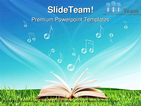 Magic Book Music Notes Nature Powerpoint Templates Themes And Backgrounds Graphic Designs Youtube Powerpoint Template Book Theme
