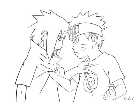 naruto and sasuke lineart by kryptonstudio on deviantart kid naruto and sasuke lineart by goku003 on deviantart