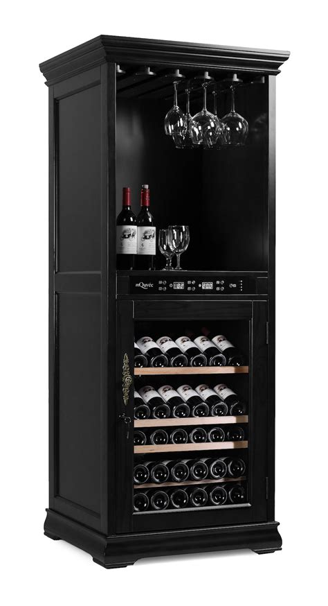 black wine cabinet furniture mquv 233 e wine cabinet american oak 72h black w 75 x h