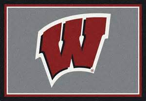 Rug To Carpet Pad Wisconsin Badgers Area Rug Ncaa Badgers Area Rugs